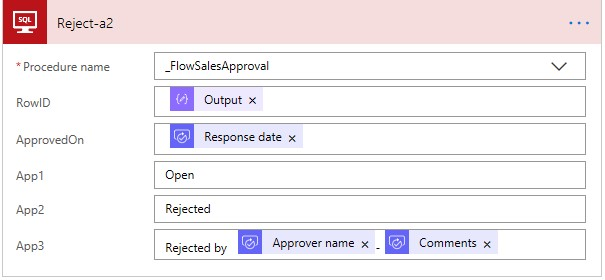 Executing procedures in Microsoft Flow